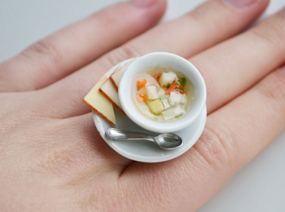 Miniature Soup Ring, Vegetable Broth