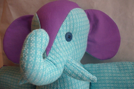 Stuffed Elephant Toy--Laura