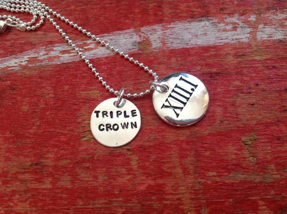 Half-Marathon Runner Sterling Necklace With Personalized Tag Marathon Runner. Roman Numeral 13 1