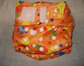 One O.S. Pouch Pocket Cloth Diaper and 2 flannel / terry inserts