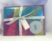 Free US Shipping: Personalized Glitter Greeting Card Set of 4