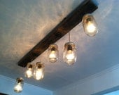 Mason Jar and Reclaimed Wood Track Lighting - LengaresDesign