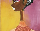 Black girl Painting on wood
