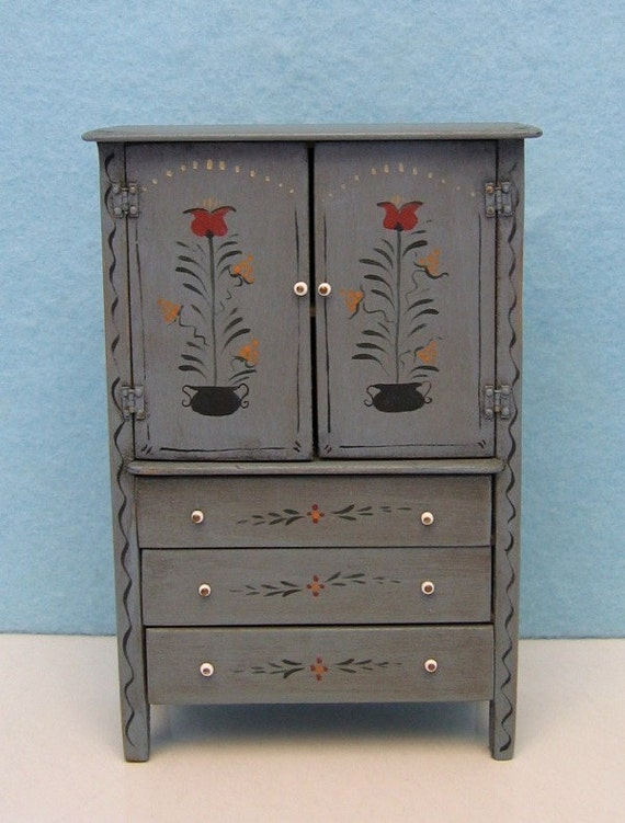 Tish Blackford Folk Art Style Miniature Wardrobe