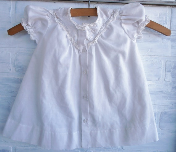 White Summer Baby Dress Belgium Includes Vintage Hanger