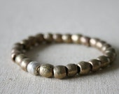 Ethiopian brass and silver bracelet // African // Bohemian // mixed metal // yoga mala // tribal // handmade // featured on front page - kisii