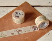 mt ex illustrated guide to animal : Japanese washi masking tape 30mm x 10m - kawaii collage scrapbooking deco - tokyobonbon