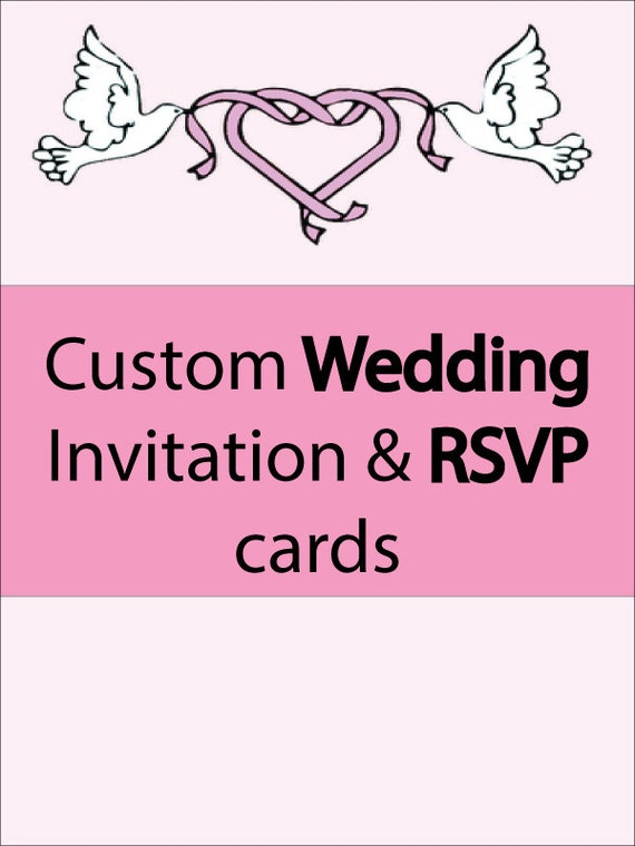 Custom Wedding Invitations & RSVP Cards 3 Day Only Sale 1/2 OFF