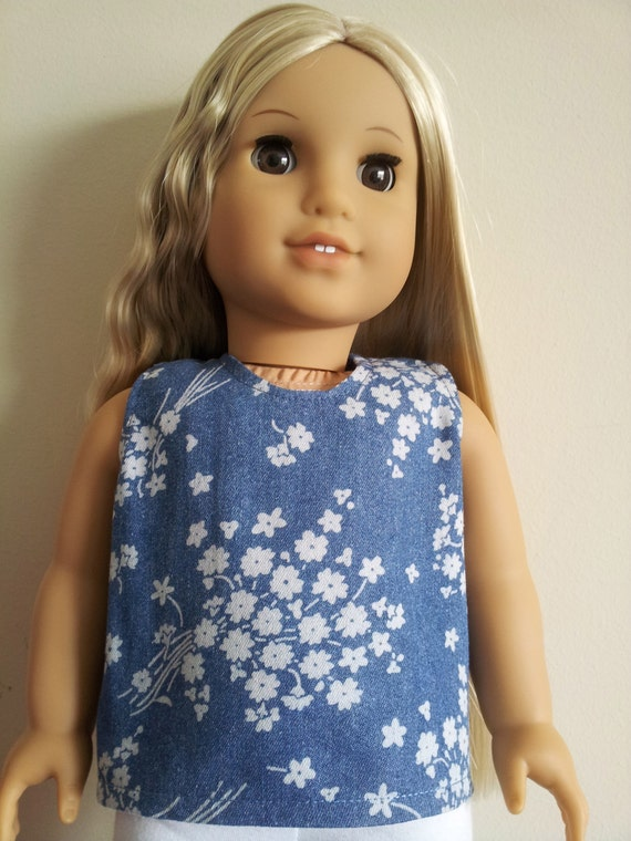 Denim top for 18 inch Dolls