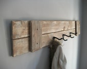 Coat Rack/ Farmhouse /rustic  grey weathered coat rack with 3 hooks - NaturalCreationsbyG