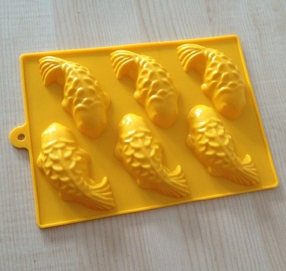 New 3d Cake Soap Mold 6 Fish Mold Silicone Mould For Candy