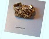 handmade gold silk knot bracelet