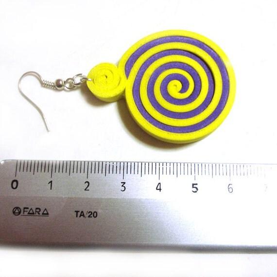 Alice orecchini in Moosgummi bicolor - creati a mano
