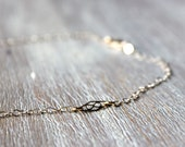 Dainty 14k Gold Filled Plaque Necklace - PlumBucketStudio