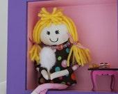 Girl's Bedroom Decor, Nursery Decor, Kids Room Decor, Shadow Box Art, Miniature Dollhouse, Wall Decor, Girl's Wall Decor