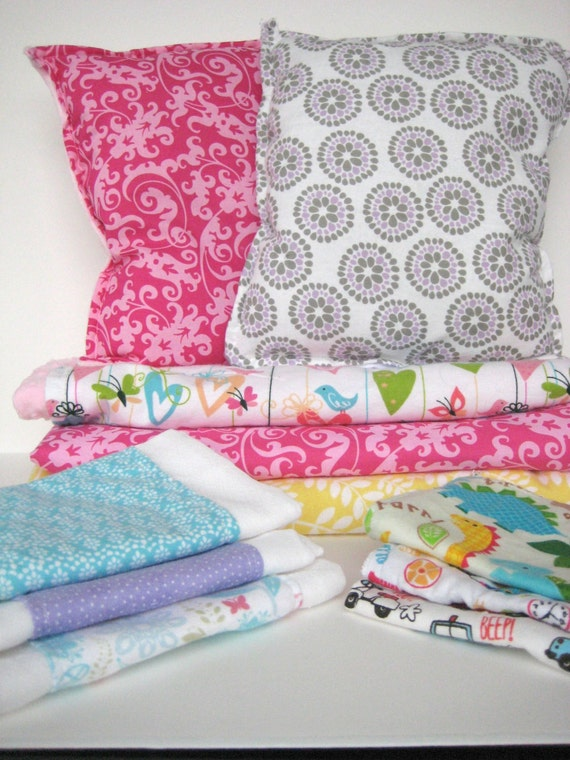 Baby Blanket, Toddler Pillow, Three Burp Cloths, Great baby Gift, Build your own Set, custom baby gift