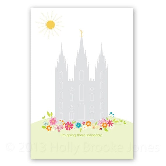 LARGE LDS Temple Printout - 12 x 18 inch - Printable digital file - Instant Download - Summer