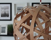 Design WOODEN Handmade lamp, lighting, pendant light, hanging lamp, lamp shade 45cm - concreteedesign