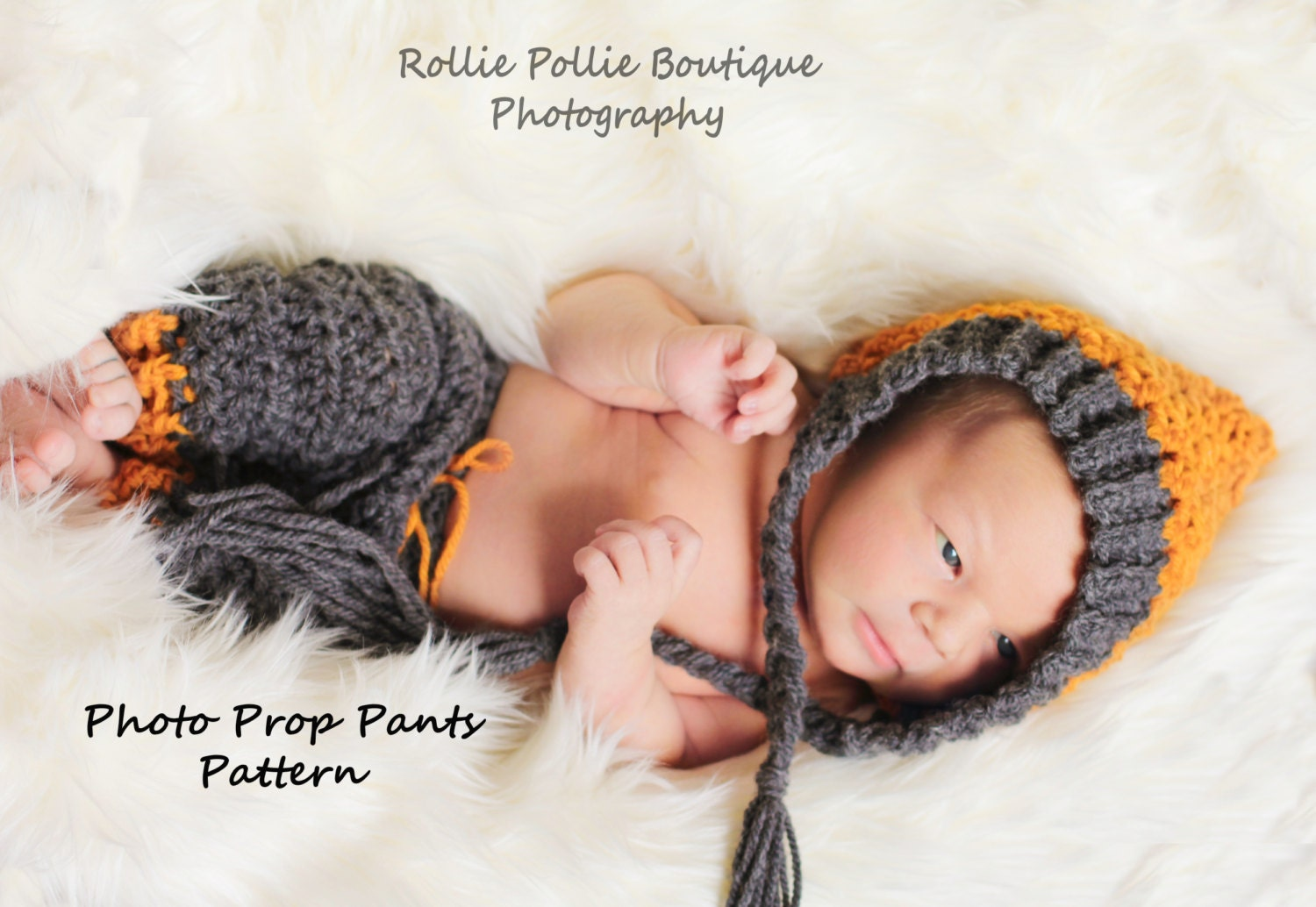 Newborn Photo prop / Crochet Pattern / Pants Pattern/ Longies Pattern