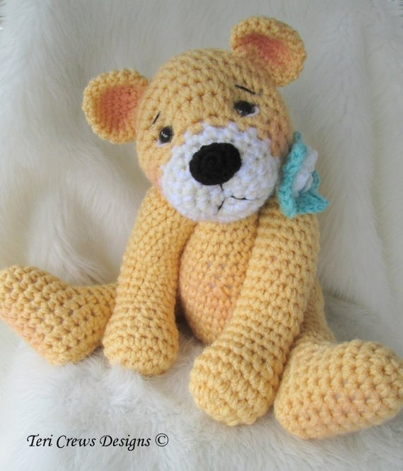 My Favorite Teddy Bear Crochet Pattern Big and Huggable Instant Download Pattern by Teri Crews