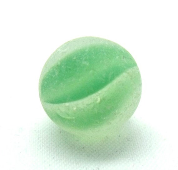 Rare Mini Green Cat's Eye Sea Glass Marble