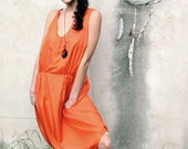 CORAL asymmetric SILK DRESS - SiamicWear