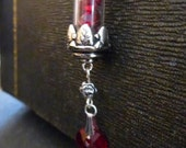 Ruby Red Potion w/ Heart Charm (Necklace and Earrings Set)