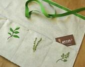 Gardening Apron - embroidered herbs - oktak