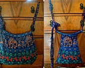 Blue Elephant Tribe Reversible Harvest Tote