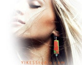YIKES Tangerine Dream Orange and Green  Dangle Earrings - Yikes