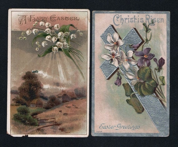 Antique Easter Postcards  Eight  Postcards in Listing