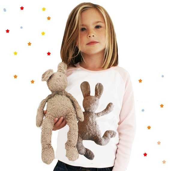 Personalised Raglan Sleeved top - Image of your teddy