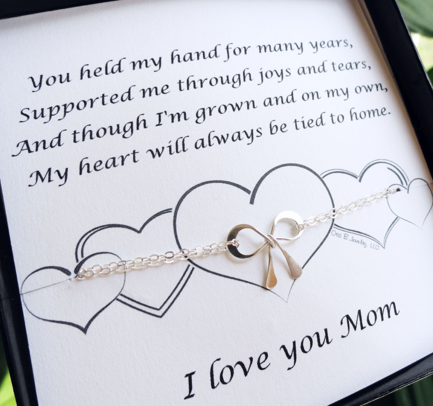 Gift For Mom On My Wedding Day : Mothers Day Gift, Mothers Day Card, Gifts for Mom, Silver bow ...