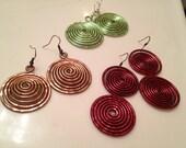 Bangin Beauties  hammered aluminum earrings