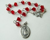 Red Car Prayer Chaplet Rosary of Infant Jesus of Prague