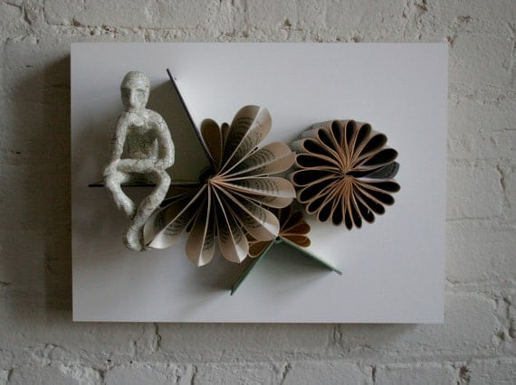 Thinker with Triple Blossoms (Original Sculpture)
