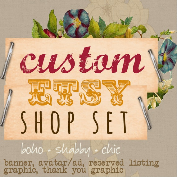 custom etsy shop sets