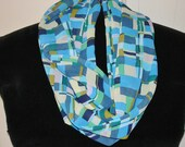 Sheer woven INFINITY Scarf Handmade Cynsible Creations
