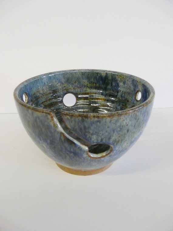 Yarn bowl to keep your yarn in control while you are knitting or crocheting and a great storage bowl for when you are not knitting.
