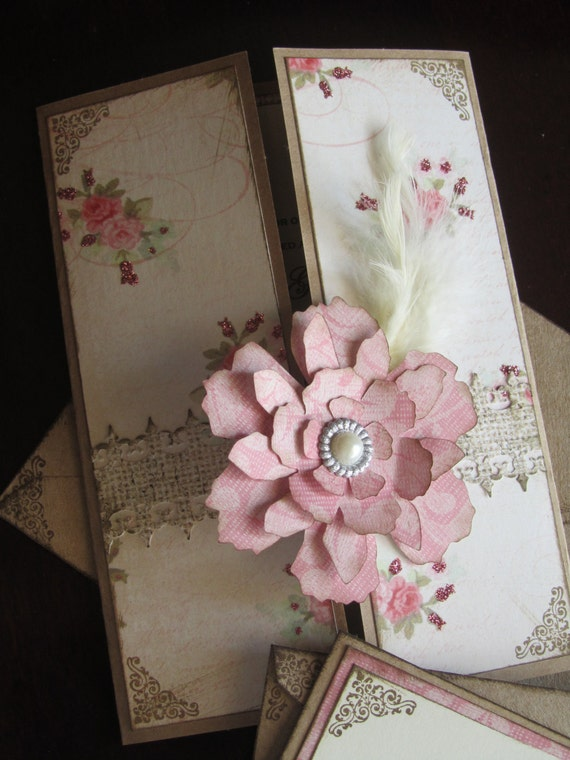 Shabby Chic and Pink Wedding Invitations