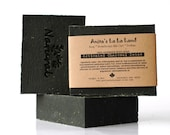 ACTIVATED CHARCOAL DETOX soap - with evening primrose oil and tea tree oil, cold process soap, vegan - AnitasLaLaLand