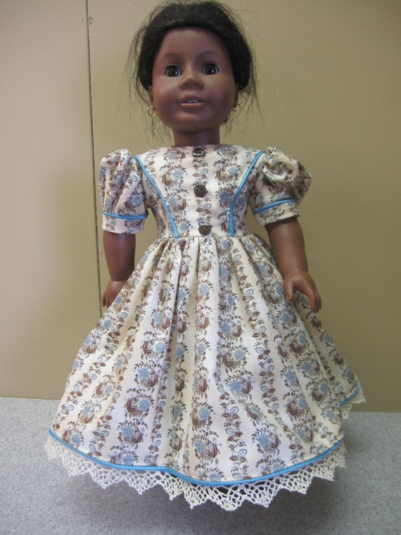FREE SHIPPING, Historical Dress for Addy or Marie-Grace - fit 18 inch American Girl Doll