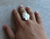 Eucalyptus Silver Ring
