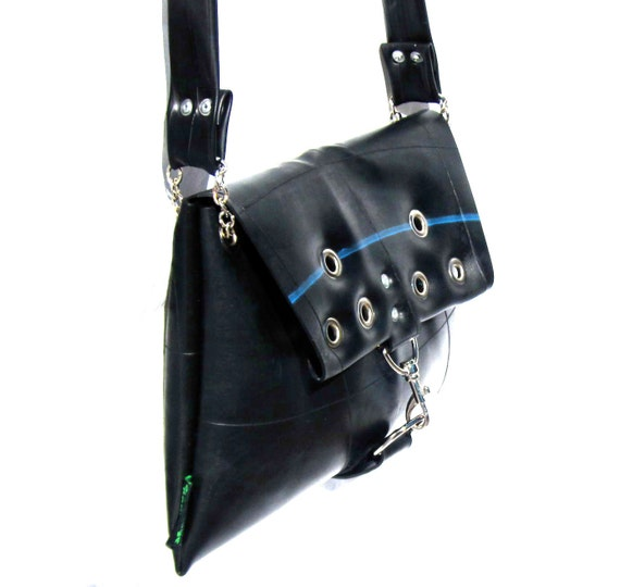 Upcycled Recycled / Inner tube / Black / Rubber / Cross Body / Satchel