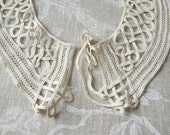 antique lace collar french rouleau lace or cord collar