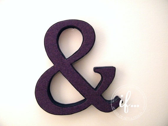AMPERSAND: Decorative piece lined with vintage fabric by If... made with love