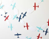 Paper Garland - Airplanes - Red White & Blue - ScoutAndAcadia