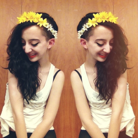 Yellow Daisy Floral Crown