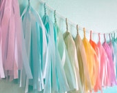 Soft Pastel Tassel Garland  (Nursery or Baby shower) - StudioMucci
