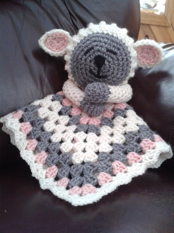 Lamb Lovey Security Blanket - PDF pattern